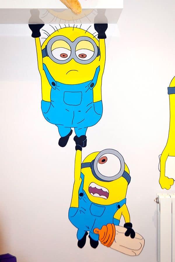 mẫu vẽ tranh tường hoạt hình minion đẹp